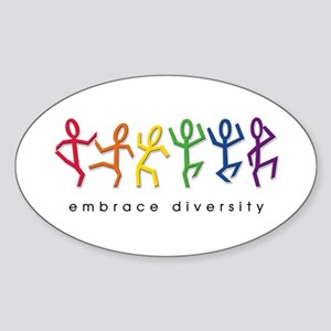gay pride dance Sticker (Oval)