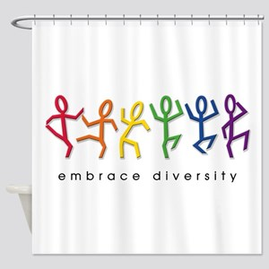 gay pride dance Shower Curtain