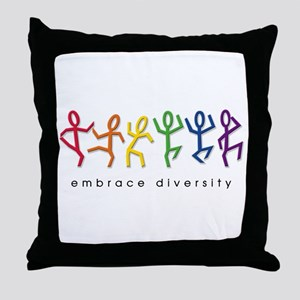 gay pride dance Throw Pillow