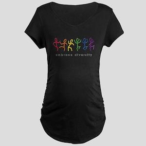 gay pride dance Maternity Dark T-Shirt