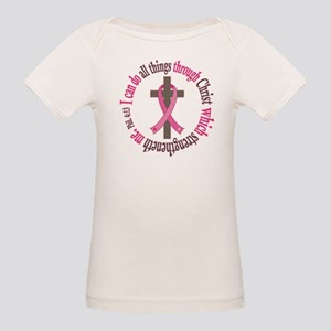 Phil 4:13 Breast Cancer Organic Baby T-Shirt