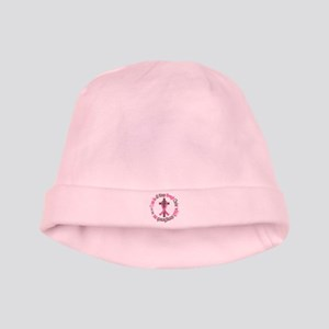 Phil 4:13 Breast Cancer baby hat