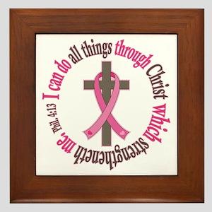 Phil 4:13 Breast Cancer Framed Tile