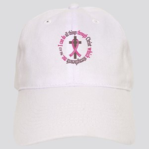 Phil 4:13 Breast Cancer Cap