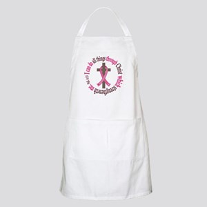 Phil 4:13 Breast Cancer Apron
