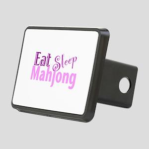 Eat Sleep Mahjong Rectangular Hitch Cover