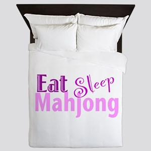 Eat Sleep Mahjong Queen Duvet