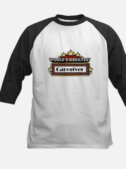 World's Greatest Caregiver Kids Baseball Jersey