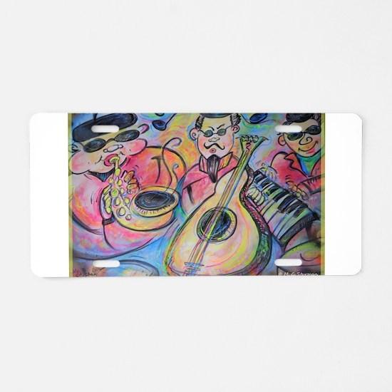 Band, music, art! Aluminum License Plate