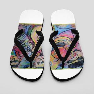 Band, music, art! Flip Flops