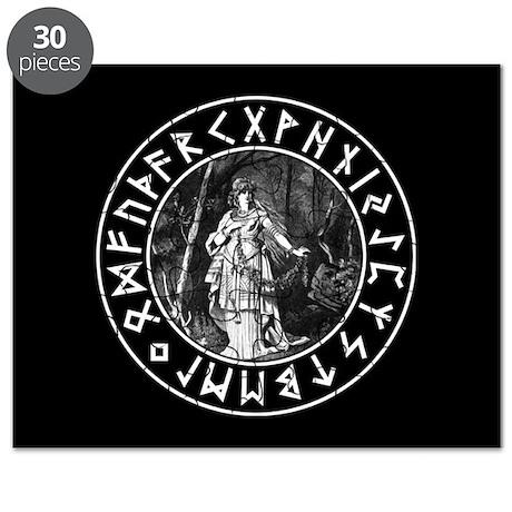 Freya Rune Shield Puzzle