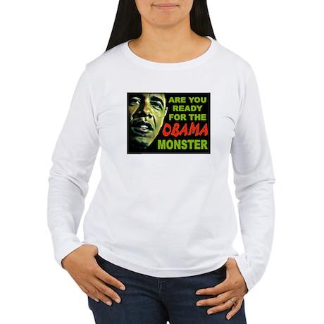 OBAMA MONSTER Women's Long Sleeve T-Shirt