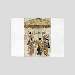 Sumiyoshi Dance - Eishi Hosada - 1791 - woodcut 5'