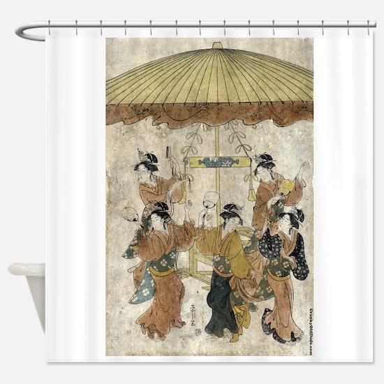 Sumiyoshi Dance - Eishi Hosada - 1791 - woodcut Sh