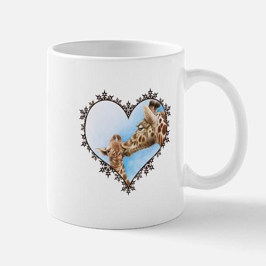 Giraffe & Calf Snowflake Heart Mug