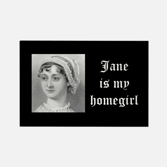 Jane Austen homegirl Rectangle Magnet