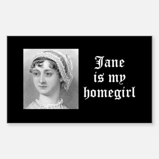 Jane Austen homegirl Sticker (Rectangle)