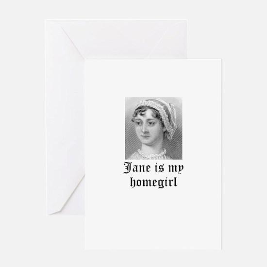 Jane Austen homegirl Greeting Card