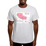 Tibet Map Ash Grey T-Shirt