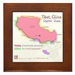Tibet Map Framed Tile