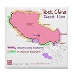 Tibet Map Tile Coaster