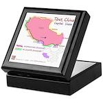 Tibet Map Keepsake Box