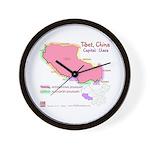 Tibet Map Wall Clock