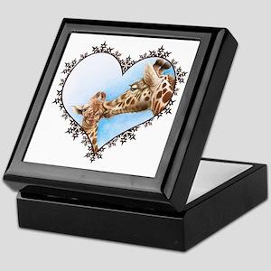 Giraffe & Calf Snowflake Heart Keepsake Box