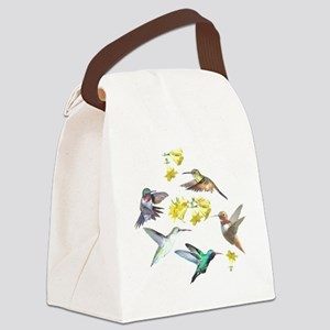 HUMMINGBIRDS AND TRUMPET PLANT Canvas Lunch Bag