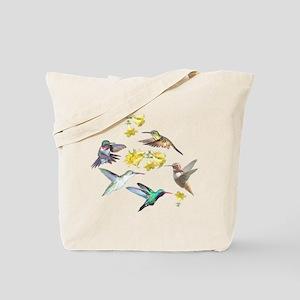 HUMMINGBIRDS AND TRUMPET PLANT Tote Bag