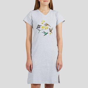 HUMMINGBIRDS AND TRUMPET PLANT Women's Nightshirt