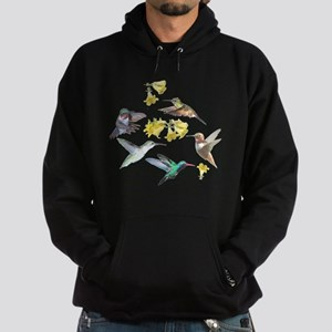 HUMMINGBIRDS AND TRUMPET PLANT Hoodie (dark)