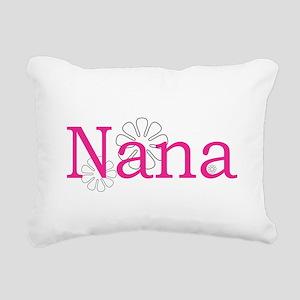 Nana Name Pink Rectangular Canvas Pillow