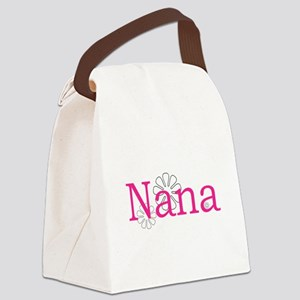 Nana Name Pink Canvas Lunch Bag