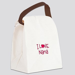 I Love Nana Canvas Lunch Bag