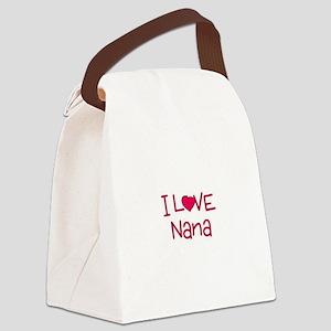 I Love Nana Canvas Lunch Bag