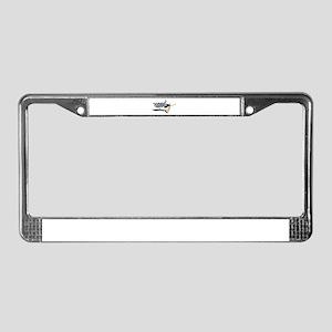 Waving Checkered Flag License Plate Frame