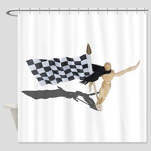 Waving Checkered Flag Shower Curtain