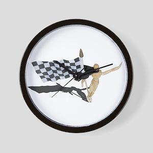 Waving Checkered Flag Wall Clock