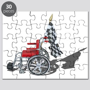 Checkered Flag and Wheelchair Puzzle