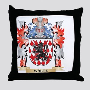 Waltz Coat of Arms - Family Crest Throw Pillow