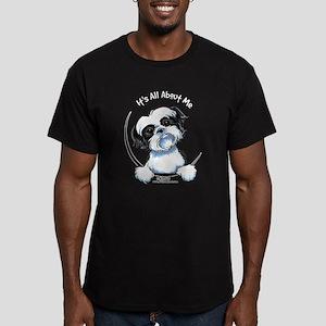 B/W Shih Tzu IAAM Men's Fitted T-Shirt (dark)
