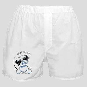 B/W Shih Tzu IAAM Boxer Shorts