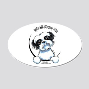 B/W Shih Tzu IAAM 20x12 Oval Wall Decal