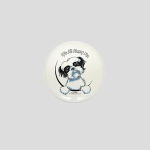 B/W Shih Tzu IAAM Mini Button