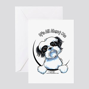 B/W Shih Tzu IAAM Greeting Card