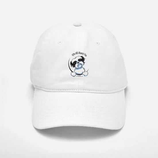 B/W Shih Tzu IAAM Baseball Baseball Cap