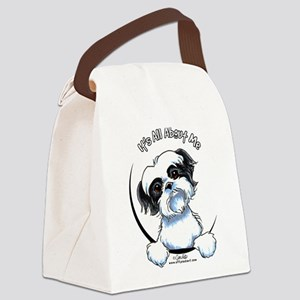 B/W Shih Tzu IAAM Canvas Lunch Bag