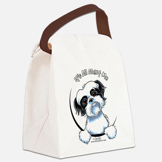 B/W Shih Tzu IAAM Canvas Lunch Bag