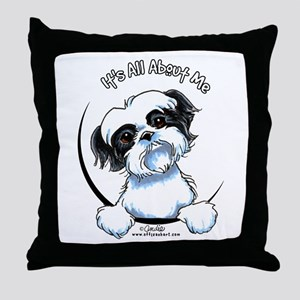 B/W Shih Tzu IAAM Throw Pillow